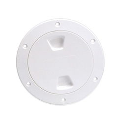 Beckson DP40 Screw-Out Deck Plate 4"