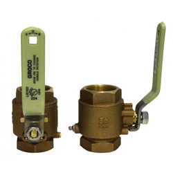 "Groco IBV-1000 Bronze NPT 1"" Inline Ball Valve 
