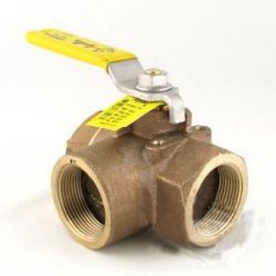 Apollo 70-603-10 Bronze 3-Way Ball Valve 1/2"
