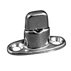 Fasnap Double Stud, 2 Screw Mounted Stainless Steel Pin and Spring | Blackburn Marine Supply