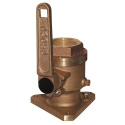"Groco BV-1500 Bronze Flanged 1-1/2"" Seacock 