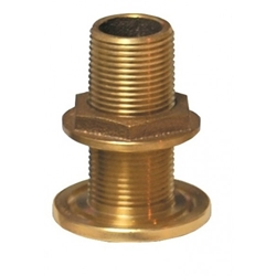 "Groco TH-1250-L Bronze 1-1/4"" NPS/NPT Combo Thru Hull (w/o Nut) 