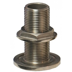 "Groco TH-1500-WS Stainless Steel 2"" NPS/NPT Thru Hull 