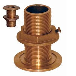"Groco TH-1250-W Bronze 1-1/4"" NPS/NPT Combo Thru Hull (w/Nut) 