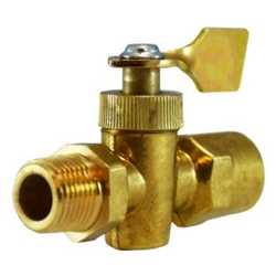 "Midland Metal 46-401M Solid Bottom Fuel Valve 1/4""M x 1/4""F 