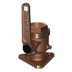 "Groco BV-1000 Bronze Flanged 1"" Seacock 