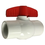 Midland Metal 940284 White PVC Ball Valve 1/2"
