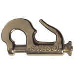 Swedish Brass Piston Jib Hank #0 Knock-On (44mm) | Blackburn Marine Sail Hardware