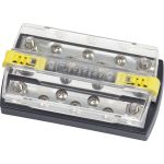 "Blue Sea Systems DualBus Plus 150A BusBar - 5/16""-18 Stud 5 Gang 