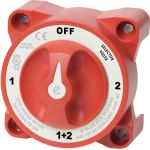 Blue Sea Systems e-Series Selector Battery Switch with AFD | Blackburn Marine Supply