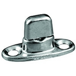 Fasnap Single Stud, 2 Screw Mounted Stainless Steel Pin and Spring | Blackburn Marine Supply