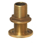 "Groco TH-1500-L Bronze 1-1/2"" NPS/NPT Combo Thru Hull (w/o Nut) 
