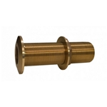"Groco THXL-1000-W Bronze 1"" NPS/NPT Extra Long Thru Hull (w/Nut) 