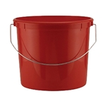 5 QT Red Plastic Bucket