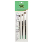 Lancaster Ox Hair Artist Brush Set 3Pc